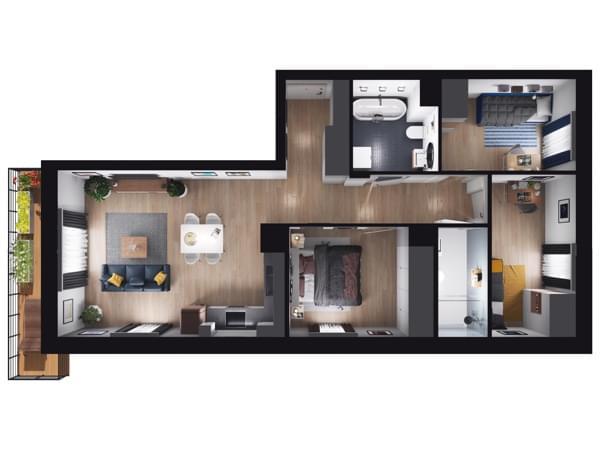 Fleminga Residence - wizualizacja mieszkania 035
